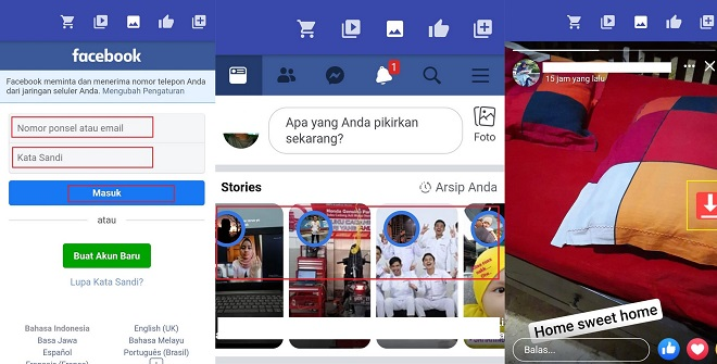 Cara Download Story Facebook