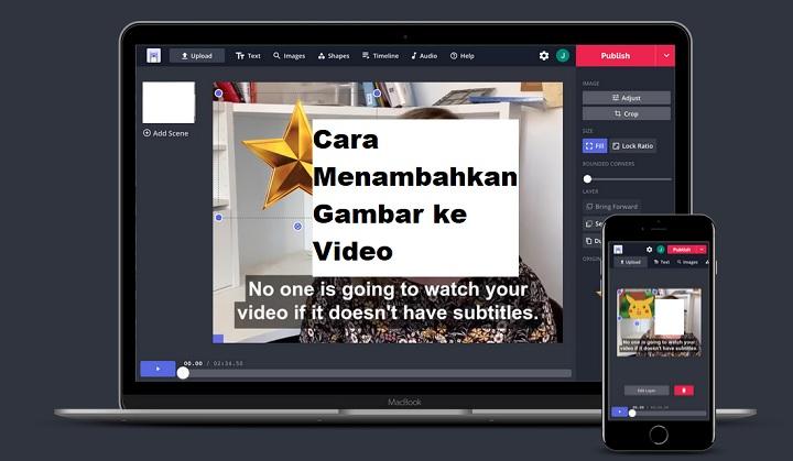 Cara Menambahkan Gambar Ke Video Secara Online