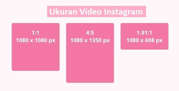 ukuran video instagram