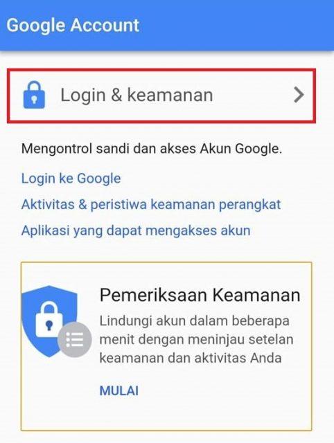 Cara mengganti password gmail