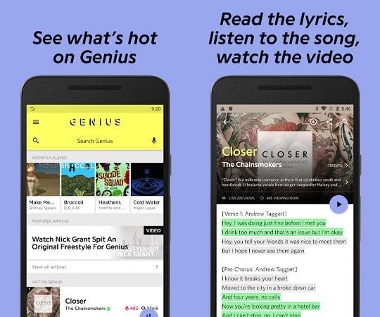 aplikasi lirik lagu